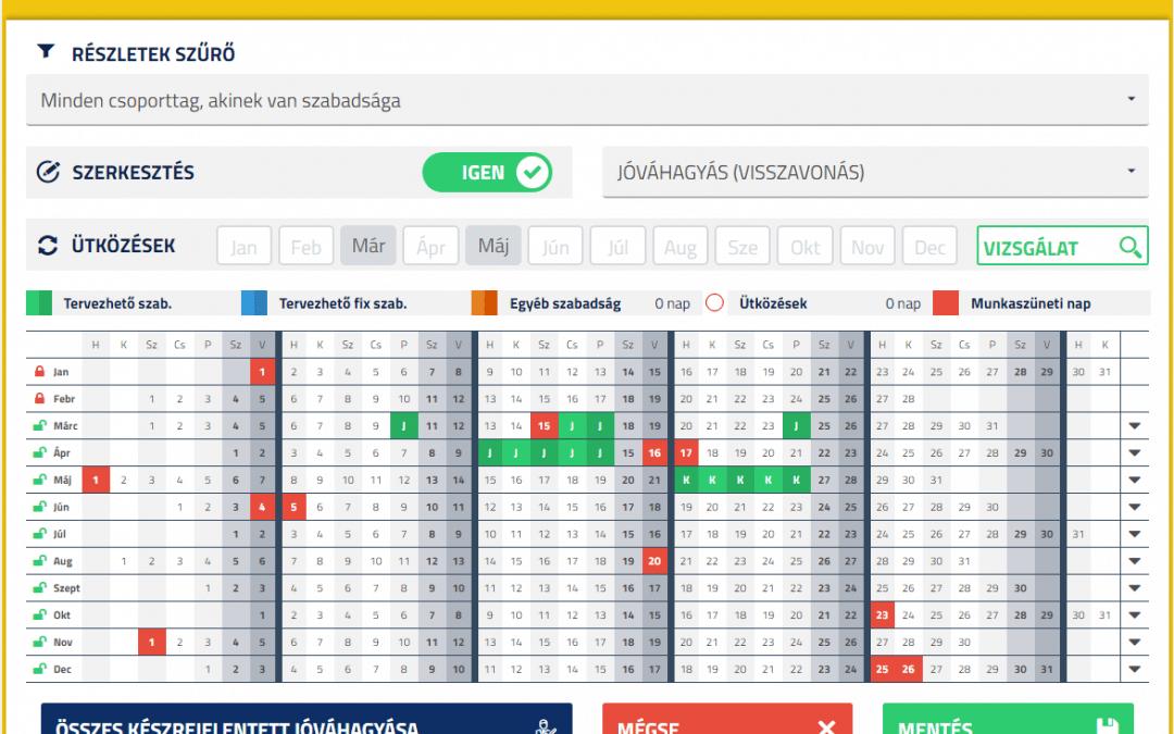 Szabadságigénylés és további hasznos lehetőségek a webes HR önkiszolgáló szoftverben – PIRAMIS™