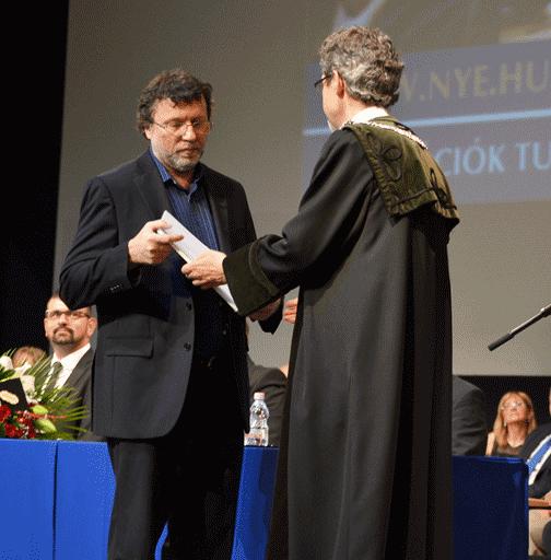 Lencsés Sándor a Nyíregyházi Egyetem Tiszteletbeli Polgára