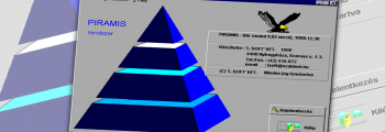 A PIRAMIS rendszer első, még DOS-os verziói